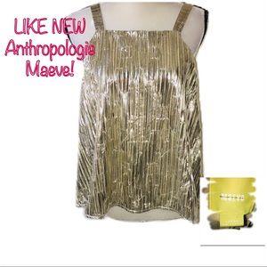 • ANTHROPOLOGIE | LIKE NEW | Metallic Gold Tank •
